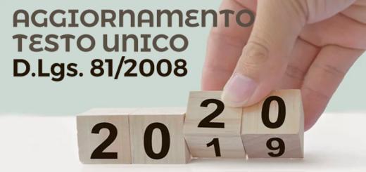 aggiornamento testo unico gennaio 2020