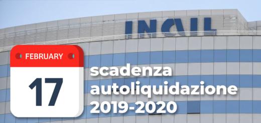 scadenza autoliquidazione inail 2019-2020